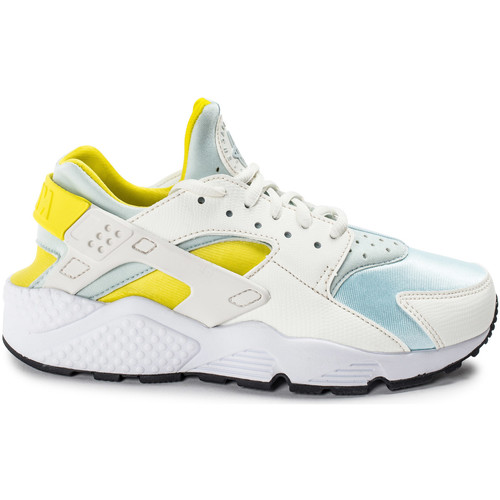 Nike Air Huarache Run Jaune Blanc/Bleu/Jaune - Chaussures Baskets basses Femme