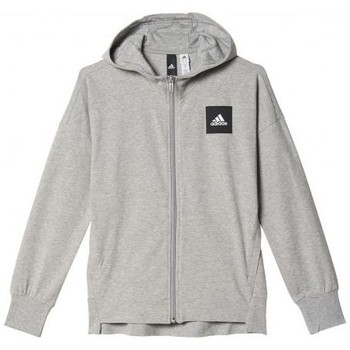 Vêtements Fille Sweats adidas Originals Veste à capuche fille Sport ID Gris
