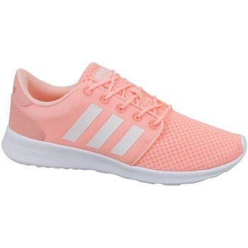Chaussures Femme Baskets basses adidas Originals Cloudfoam QT Racer W Blanc-Rose