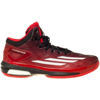 Chaussures Homme Basketball adidas Originals Crazylight Boost Noir-Rouge