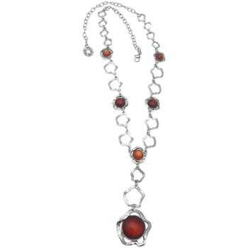 Montres & Bijoux Femme Colliers / Sautoirs Lili La Pie Collier long collection NASTRO Rouge