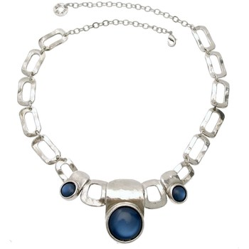 Montres & Bijoux Femme Colliers / Sautoirs Lili La Pie Collier plastron collection JOY Bleu marine