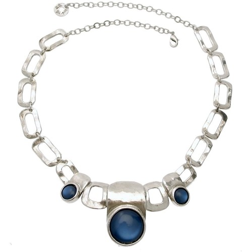 Montres & Bijoux Femme Colliers / Sautoirs Lili La Pie 11942 COL 05 collier plastron collection JOY Bleu marine