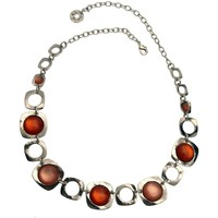 Montres & Bijoux Femme Colliers / Sautoirs Lili La Pie Collier torque MANHATTAN Orange clair