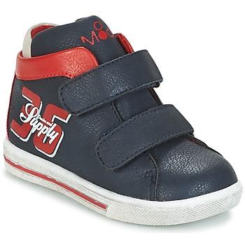 Chaussures Garçon Baskets montantes Mod'8 STARIUS Marine / Rouge