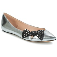 Chaussures Femme Ballerines / babies Marc Jacobs RITA POINTY TOE Argent