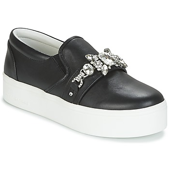 Chaussures Femme Slips on Marc Jacobs WRIGHT EMBELLISHED SNEAKER Noir