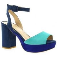 Chaussures Femme Escarpins Fremilu Escarpins cuir velours Bleu