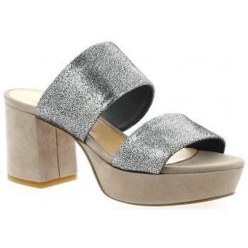 Chaussures Femme Sandales et Nu-pieds Fremilu Mules cuir laminé   et Noir/taupe