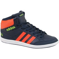 Chaussures Enfant Ville basse adidas Originals Hoops Mid K Bleu marine-Orange