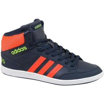 Chaussures Enfant Ville basse adidas Originals Hoops Mid K Orange-Bleu marine