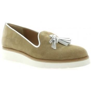 Chaussures Femme Mocassins Exit Mocassins cuir velours Camel