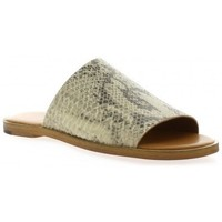 Chaussures Femme Mules Exit Mules cuir python Beige