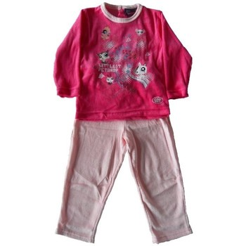 Vêtements Enfant Pyjamas / Chemises de nuit Littlest Petshop Pyjama en velours Rose
