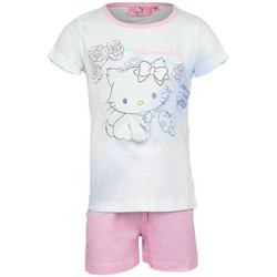 Vêtements Enfant Pyjamas / Chemises de nuit Charmmy Kitty Pyjashort Blanc
