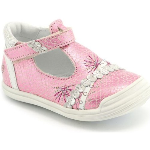 Chaussures Fille Ballerines / babies GBB Babies cuir MELYNA rose