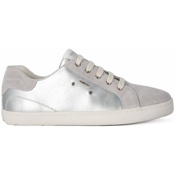 Chaussures Fille Baskets basses Geox KIWI GIRL SILVER     52,4