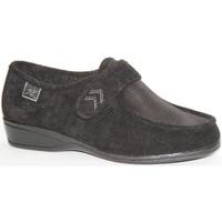 Chaussures Femme Mocassins Doctor Cutillas Chaussures Velcro pieds très délicats D negro