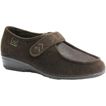 Chaussures Femme Mocassins Doctor Cutillas Chaussures Velcro pieds très délicats D marrón