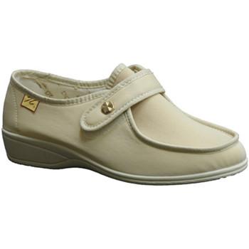 Chaussures Femme Mocassins Doctor Cutillas  Chaussures Velcro pieds très délicats beige