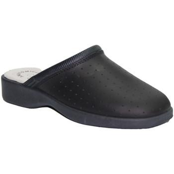 Chaussures Femme Sabots Made In Spain 1940  La peau travail Clog Cruan en bleu mar azul