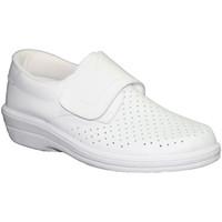 Chaussures Femme Mocassins Farma  Travail Clog velcro de la peau  e blanco