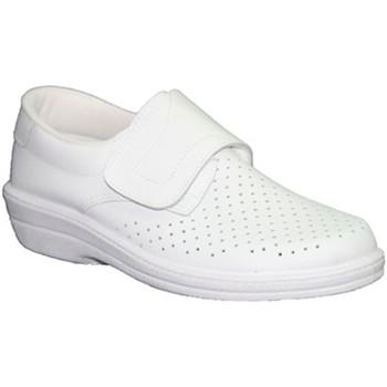 Chaussures Homme Mocassins Farma  Travail Clog Chevalier velcro de la pe blanco
