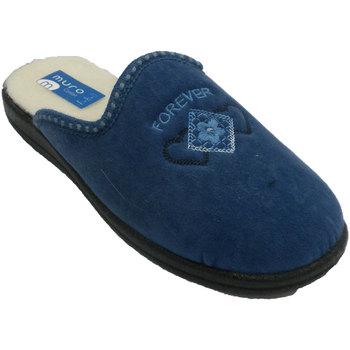 Chaussures Femme Chaussons Muro  String mur pantoufle  en bleu azul