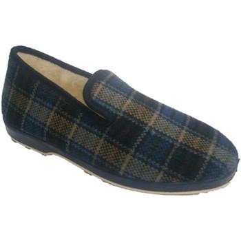 Chaussures Homme Chaussons Made In Spain 1940  Tissu à carreaux bleu Slipper Soca en azul