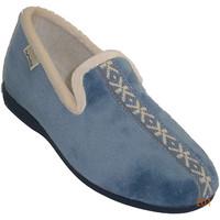 Chaussures Femme Chaussons Muro  Slipper fermé avec la frontière sur la azul