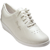Chaussures Femme Baskets basses Made In Spain 1940  Deportivo lacets cuir dame coin Fergar blanco