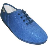 Chaussures Femme Chaussons Muro  Lacets de chaussures Wedge  en tej azul