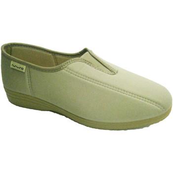 Chaussures Femme Slip ons Muro Lycra chaussure avec empeigne en caoutch beige