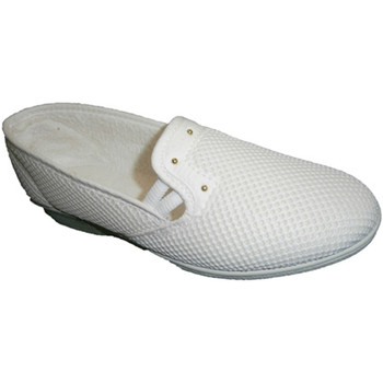 Chaussures Femme Slip ons Made In Spain 1940 Étagère à chaussures en tissu avec demi- blanco