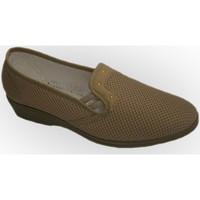 Chaussures Femme Mocassins Made In Spain 1940 Étagère à chaussures en tissu avec demi- beige
