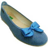 Chaussures Femme Ballerines / babies Made In Spain 1940 Manoletina Bow Alberola en tejano azul