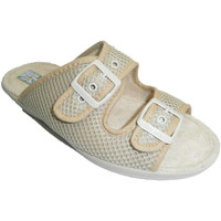 Chaussures Femme Mules Made In Spain 1940 Mesh string avec double boucle Alberola beige