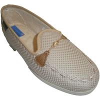 Chaussures Femme Mocassins Made In Spain 1940 Chaussons fermés chaîne de grille décora beige
