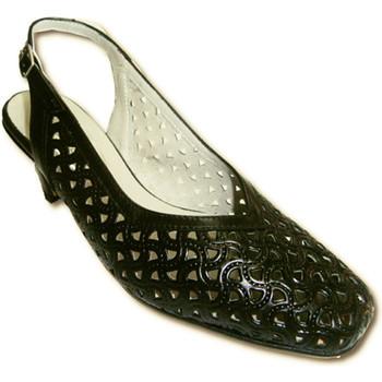 Chaussures Femme Sandales et Nu-pieds Pomares Vazquez OPEN Retour chaussures ajouré noir large negro