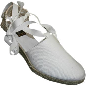 Chaussures Femme Espadrilles Andinas Chaussures de Valence liés à la patte de blanco