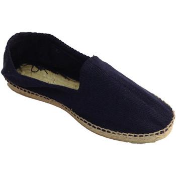 Chaussures Homme Espadrilles Made In Spain 1940 Chanvre sandales en tissu à chevrons et azul