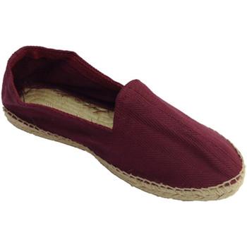 Chaussures Homme Espadrilles Made In Spain 1940 Chanvre sandales en tissu à chevrons et burdeos