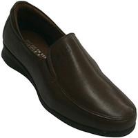 Chaussures Femme Mocassins Pitillos Chaussures en cuir avec du caoutchouc su marrón