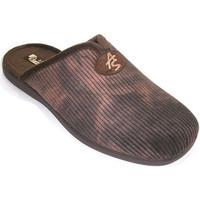 Chaussures Homme Chaussons Andinas Tongs homme en velours côtelé avec l'ouv marrón