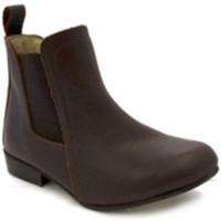 Chaussures Femme Bottines Danka Canne moyenne butin fille  en brun marrón