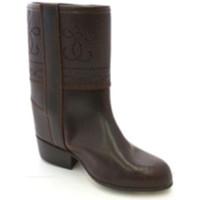 Chaussures Femme Bottes ville Danka Boot imprime veste fille  en brun marrón
