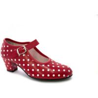 Chaussures Femme Escarpins Danka Séville Flamenco chaussures de danse poi rojo