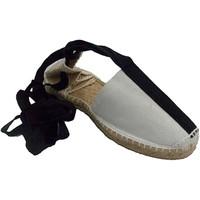 Chaussures Espadrilles Made In Spain 1940 Sandales de chanvre avec des bandes de t blanco