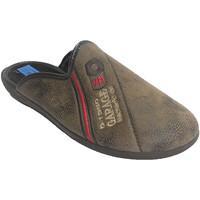 Chaussures Homme Chaussons Made In Spain 1940 Chancla homme avec garniture en cuir tis beige