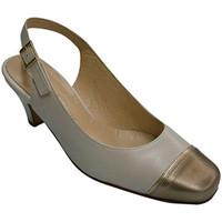Chaussures Femme Sandales et Nu-pieds Pomares Vazquez Metallic talon de la chaussure à bout ou azul